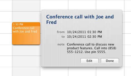 iCal Meeting